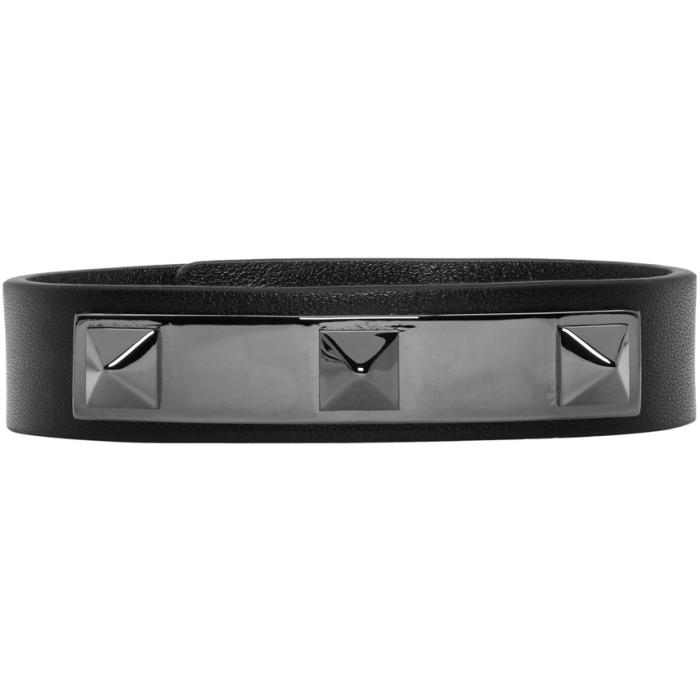 Valentino Black Three Stud Bracelet
