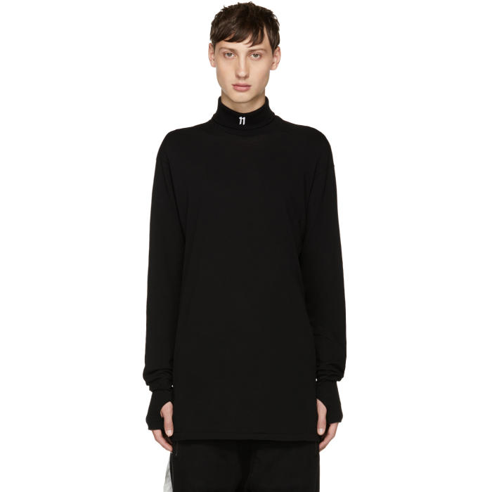 11 by Boris Bidjan Saberi Black Small Logo Turtleneck