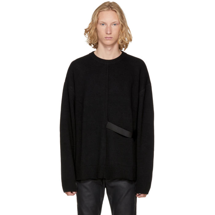 D by D Black Strap Sweater