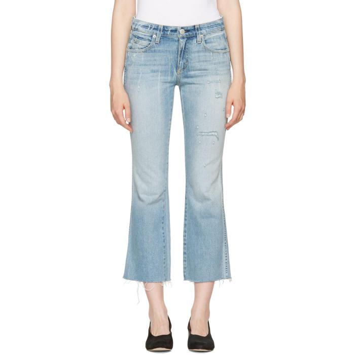 Amo Blue Kick Crop Jeans