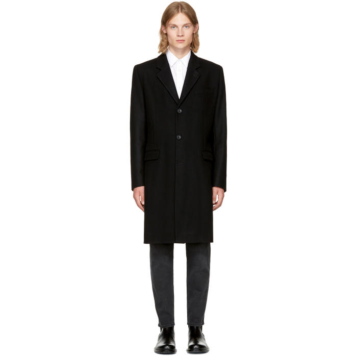 Éditions M.R Black Wool Classic Overcoat