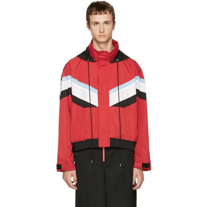 Ambush Red and Black Windbreaker Jacket