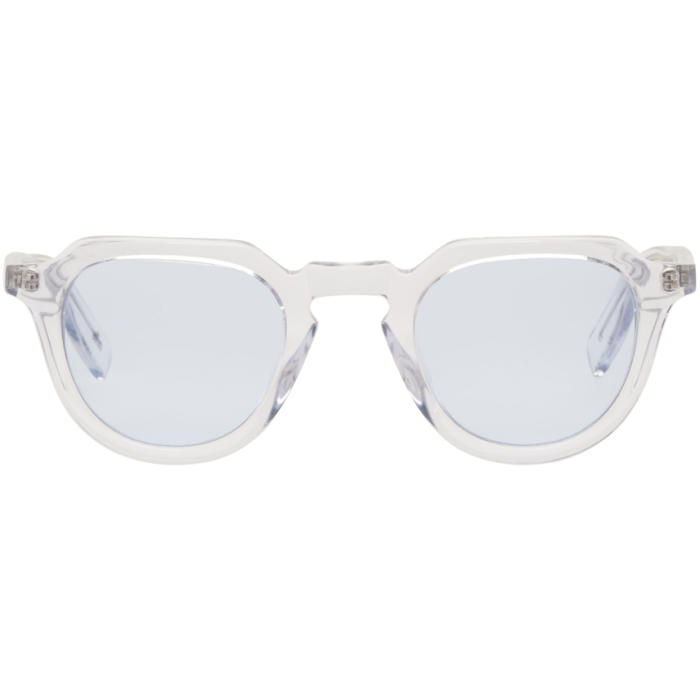 all in Transparent and Blue Voltaire Sunglasses