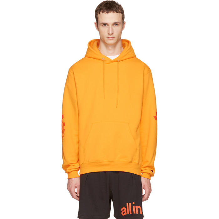 all in Yellow Champion Edition Logo Hoodie