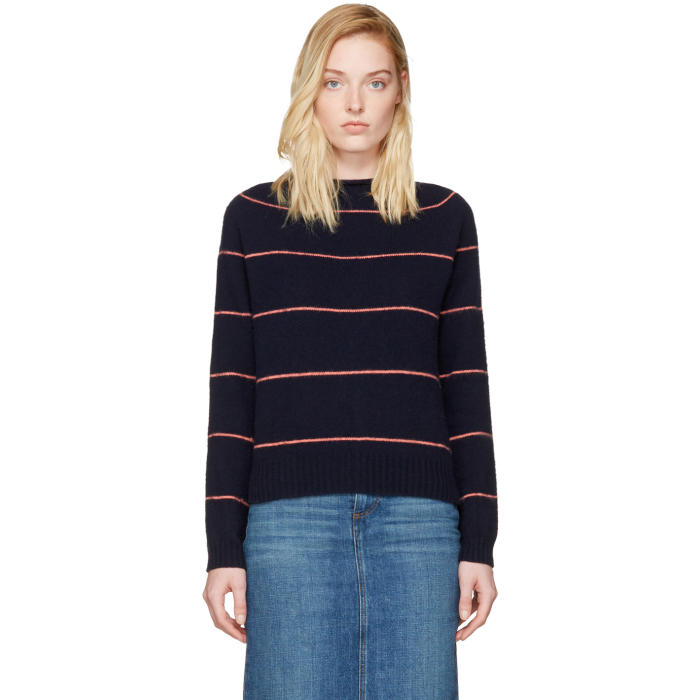 Alexachung Navy Striped Sweater
