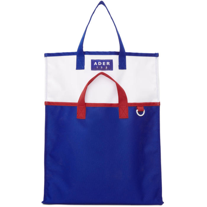 ADER error Blue and White Twin Tote thumbnail