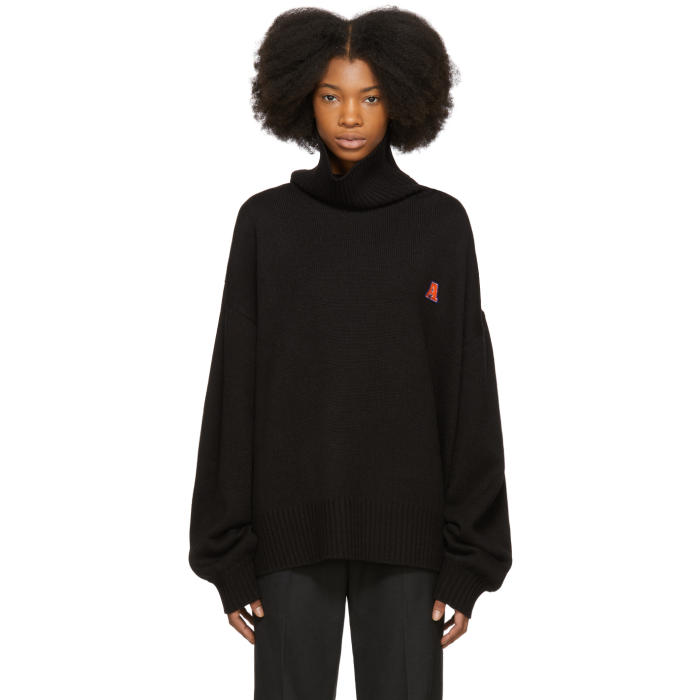 ADER error Black Spread Knit Turtleneck thumbnail