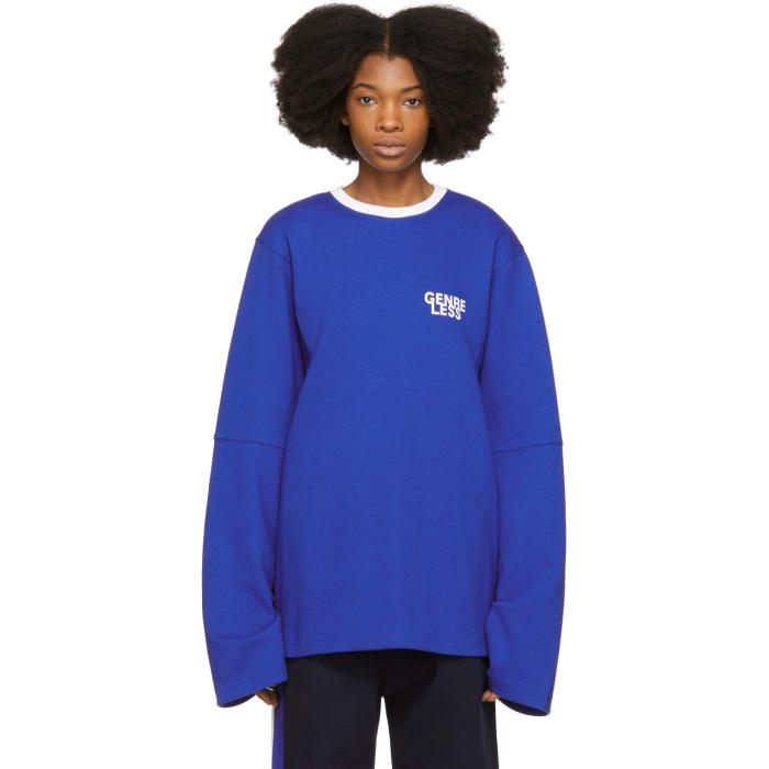 ADER error Blue Long Sleeve Genreless T-Shirt thumbnail