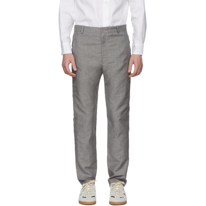 HOUSE OF THE VERY ISLANDS House Of The Very Islands Grey Tropical Wool Tailored Trousers in 8.0 Grey