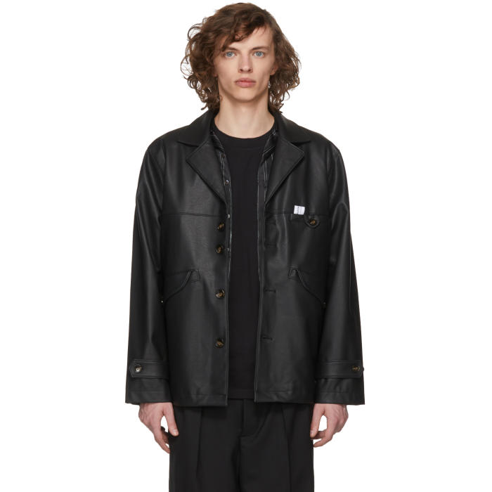L'HOMME ROUGE Lhomme Rouge Black Fake Jacket