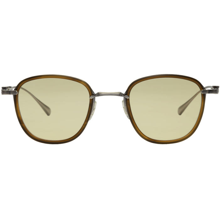 MR. LEIGHT Mr. Leight Ssense Exclusive Brown And Yellow Griffith Sunglasses in Oak Yellow