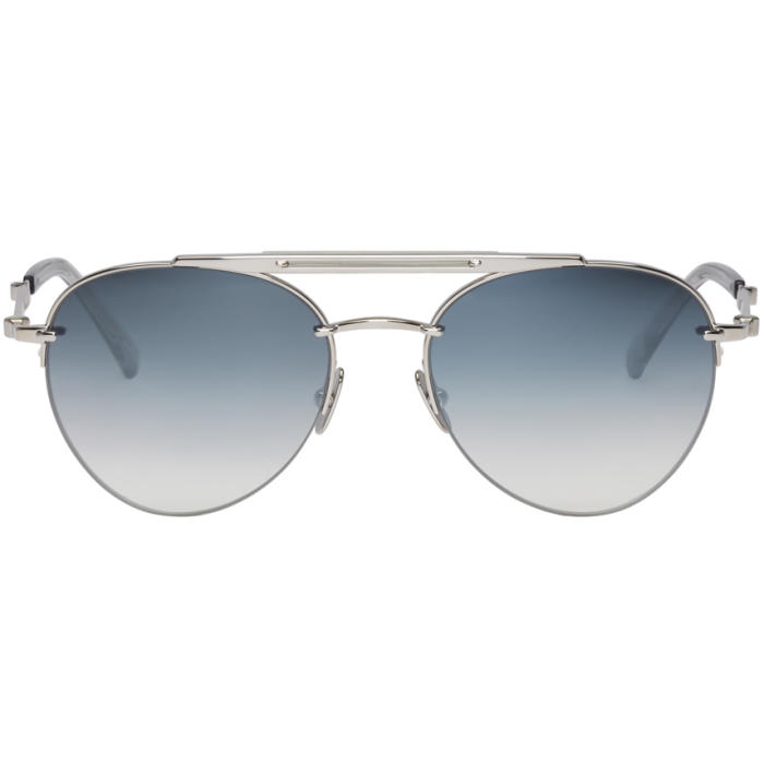 MR. LEIGHT Mr. Leight Silver Rodeo Sl Sunglasses in Platinum