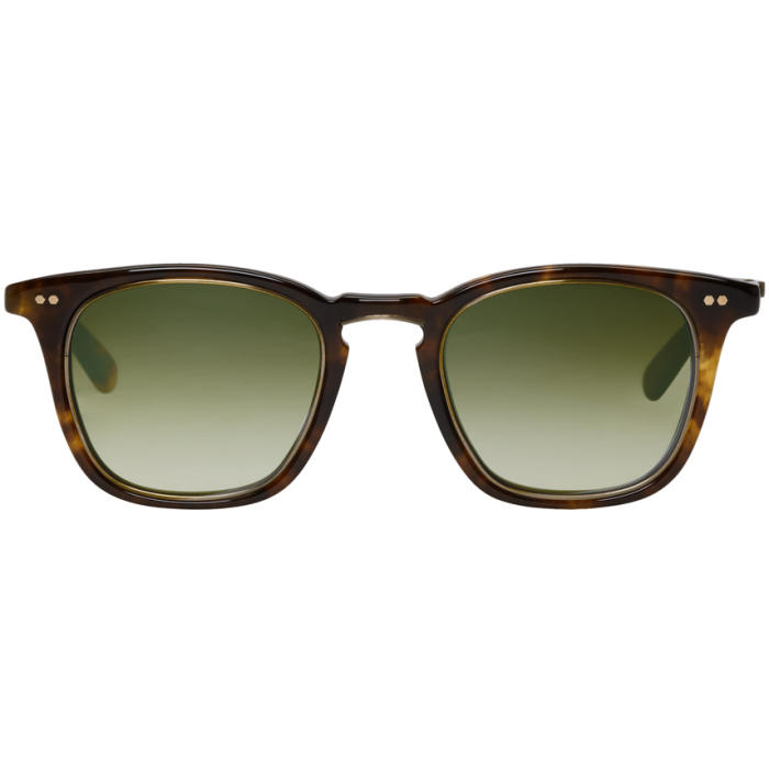 MR. LEIGHT Mr. Leight Tortoiseshell Getty S 48 Sunglasses in Antiqu.Gold