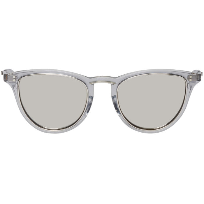 MR. LEIGHT Mr. Leight Grey Runyon Sl 51 Sunglasses in Grey/Platnm