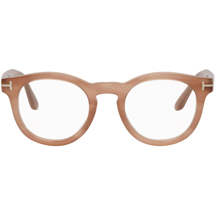 TOM FORD 48MM ROUND OPTICAL GLASSES - STRIPED MILKY PINK | ModeSens