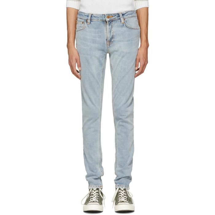 NUDIE JEANS Nudie Jeans Blue Skinny Lin Jeans in Summerbrz