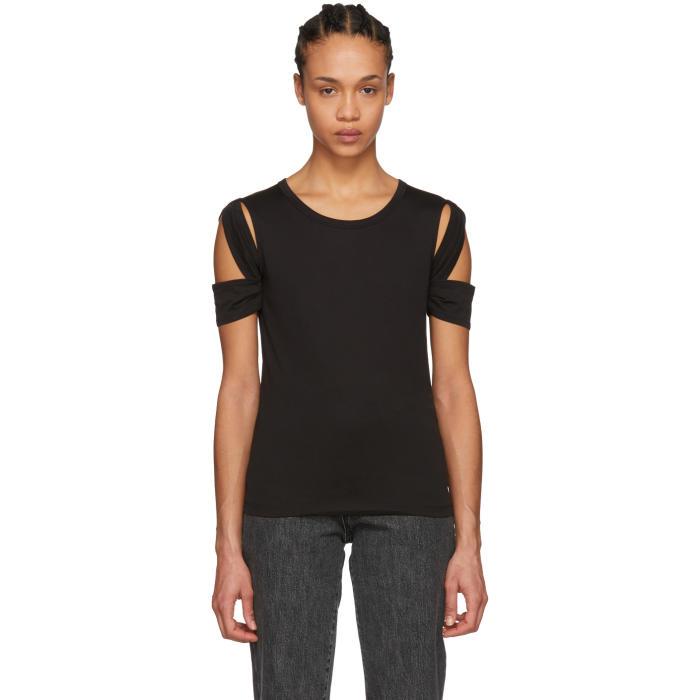 Black Bondage Sleeve T-Shirt
