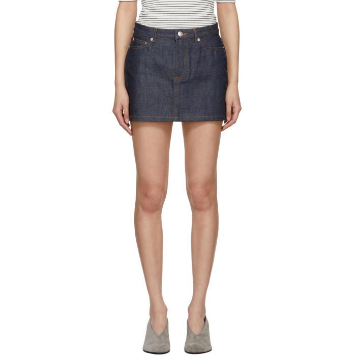 A.P.C. High Standard Denim Shorts in Indigo