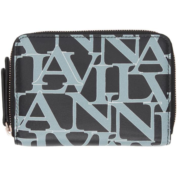 LANVIN Blue Compact Logo Wallet