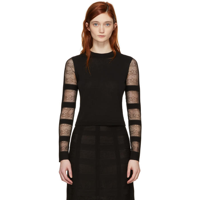 Alexander McQueen Black Corset Sweater thumbnail