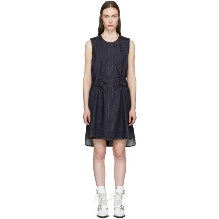 2f35647c13 Carven Indigo Denim Twist Back Dress In 570 Indigo