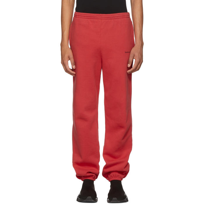 RED JERSEY SWEATPANTS