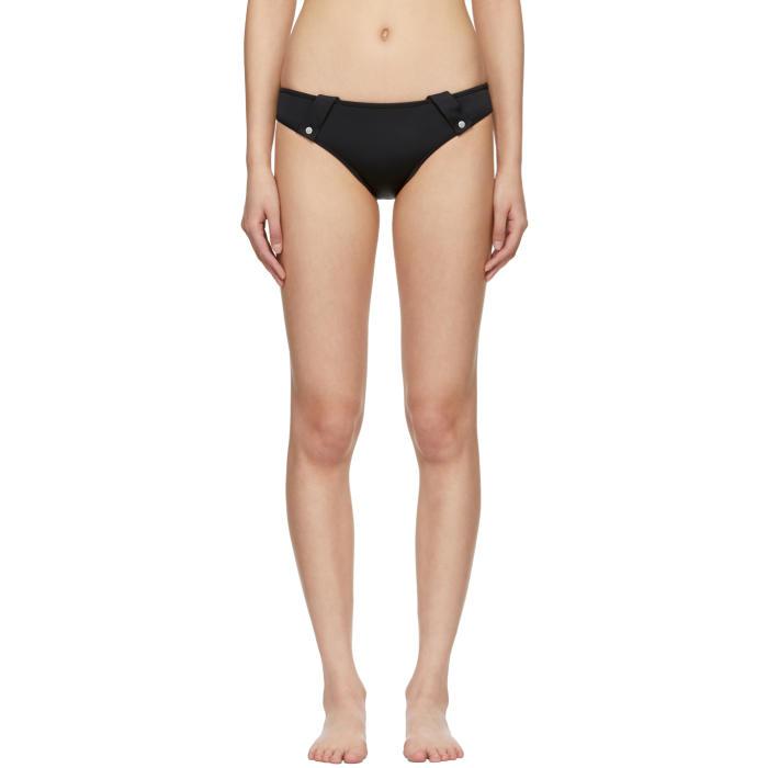 VERSUS Versus Logo Printed Bikini Bottoms - Black