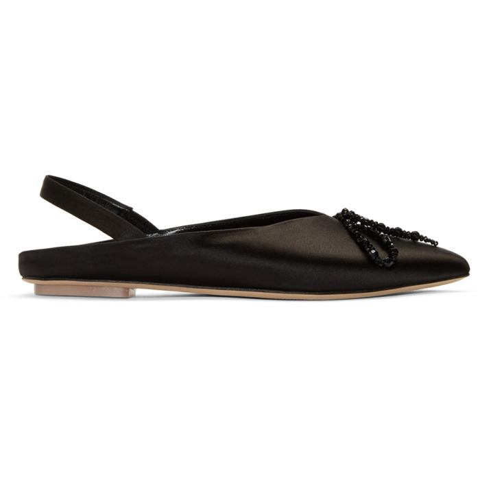 Slingback Pointed Toe Pumps in Black