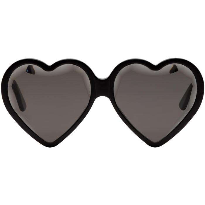 Gucci Eyewear Heart-Shaped Sunglasses - Black