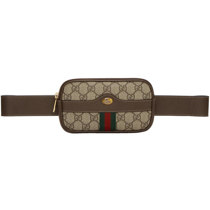 Ophidia Mini Gg Supreme Belt Bag, Brown