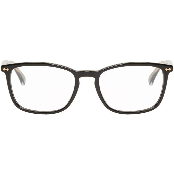 b7532c3cea2e4 Gucci Rectangle Acetate Optical Glasses In Black
