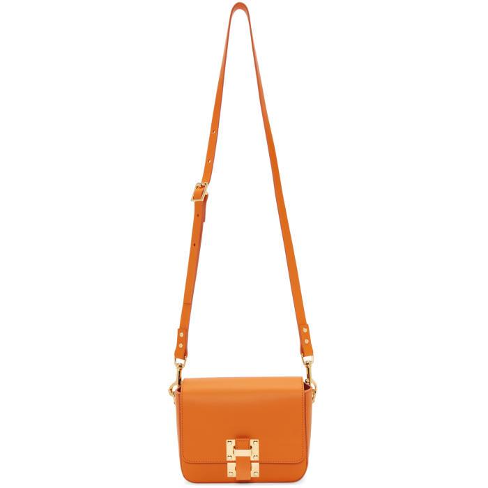 Sophie Hulme Orange Small Quick Bag