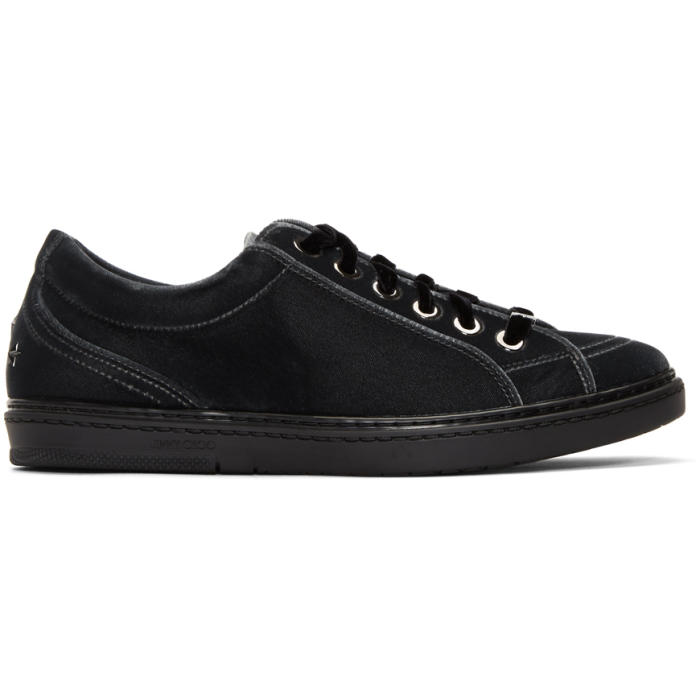 Marcelo Burlon County of Milan Black Velvet Cash Sneakers OBrxy