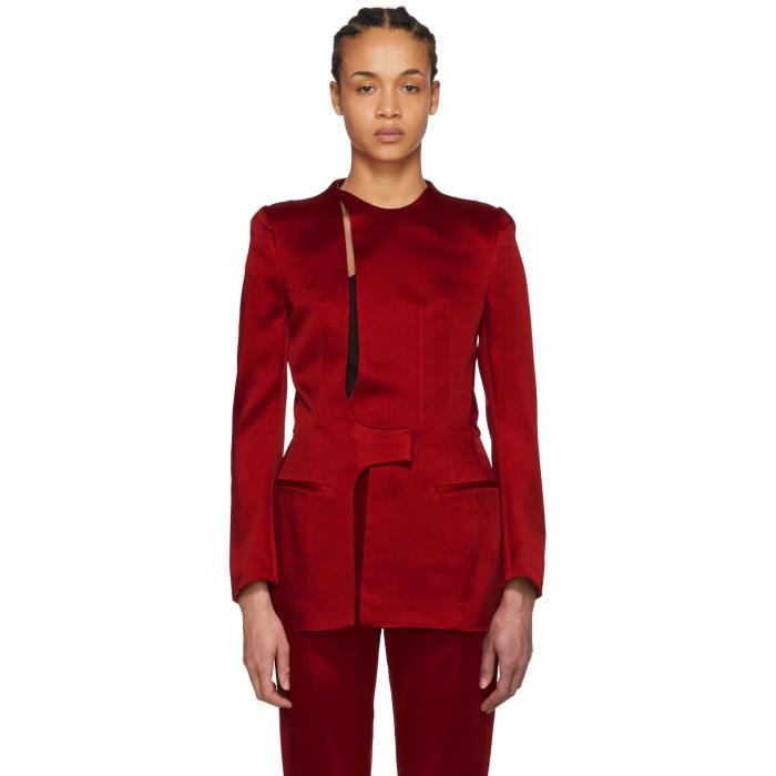 Haider Ackermann Cut-Out Jacket - Red