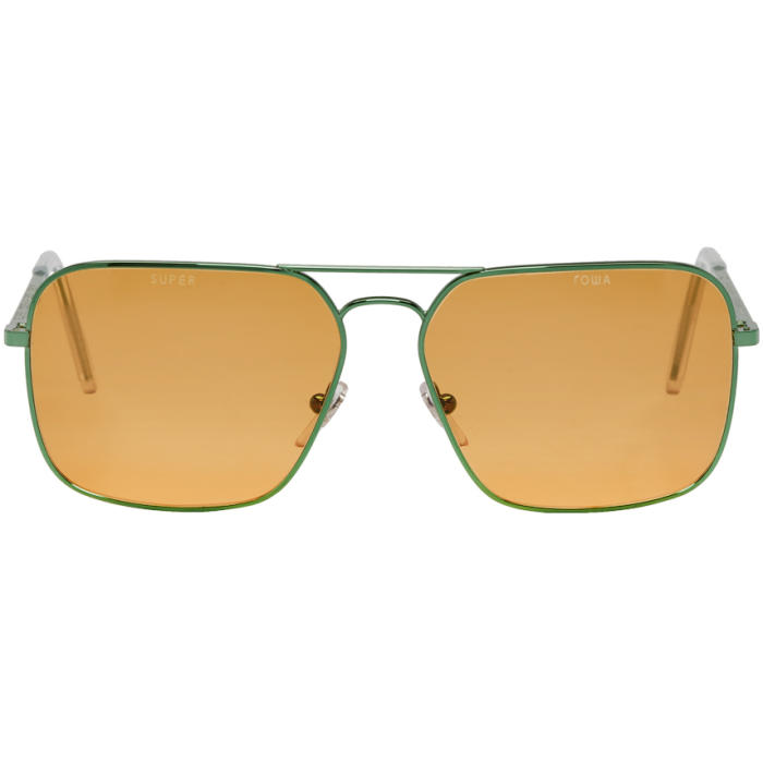 Green & Orange Super Edition Iggy Sunglasses in Iggy Ornage