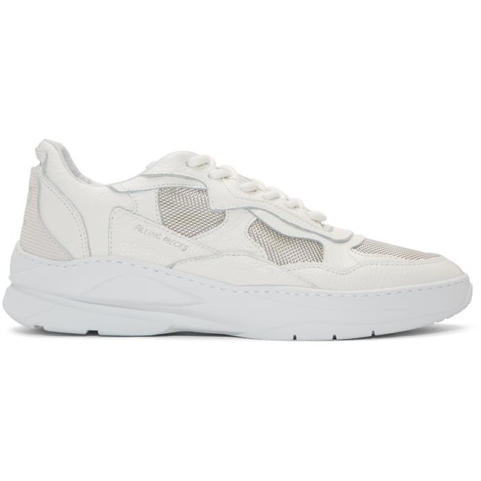 Filling Pieces Colourblock Low Top Sneakers - White  07edfbd16c0