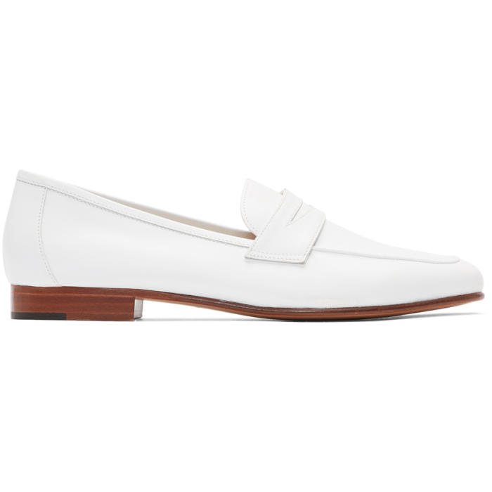 Mansur Gavriel Leathers WHITE CLASSIC LOAFERS