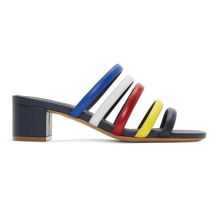 Multi Strap Sandals in Blue