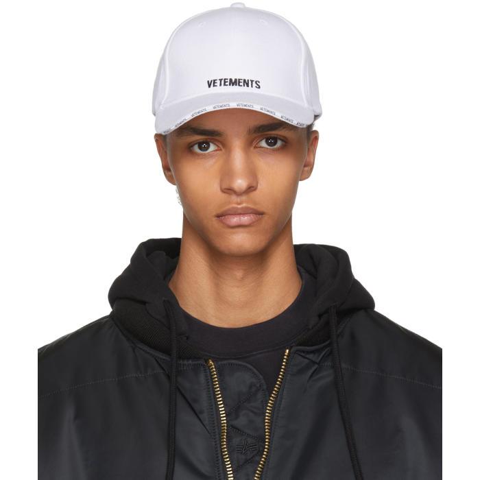 Vetements Caps VETEMENTS WHITE LOGO BASEBALL CAP