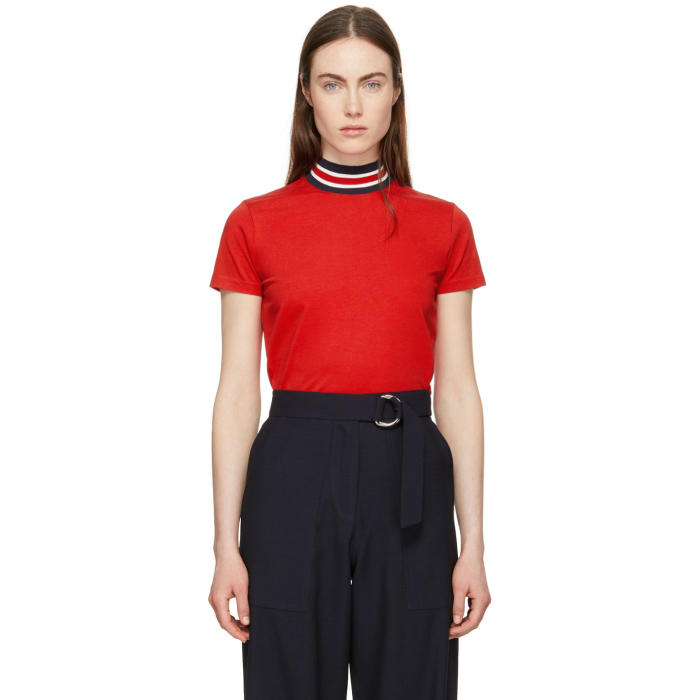Harmony HARMONY RED TIPHAINE HIGH NECK T-SHIRT
