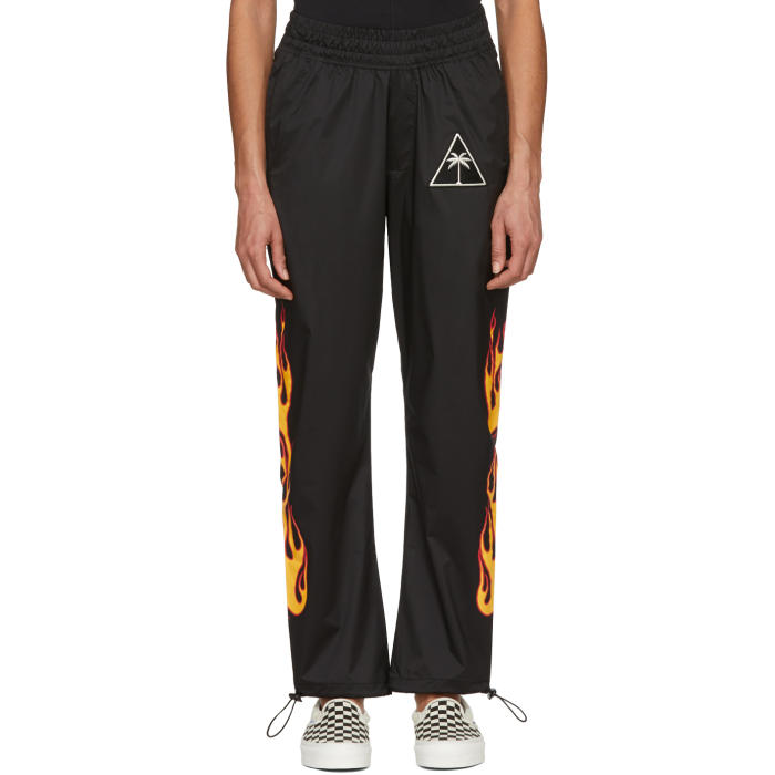 Black Palms & Flames Lounge Pants