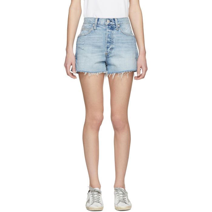 Amo AMO BLUE ROSEBOWL DENIM SHORTS
