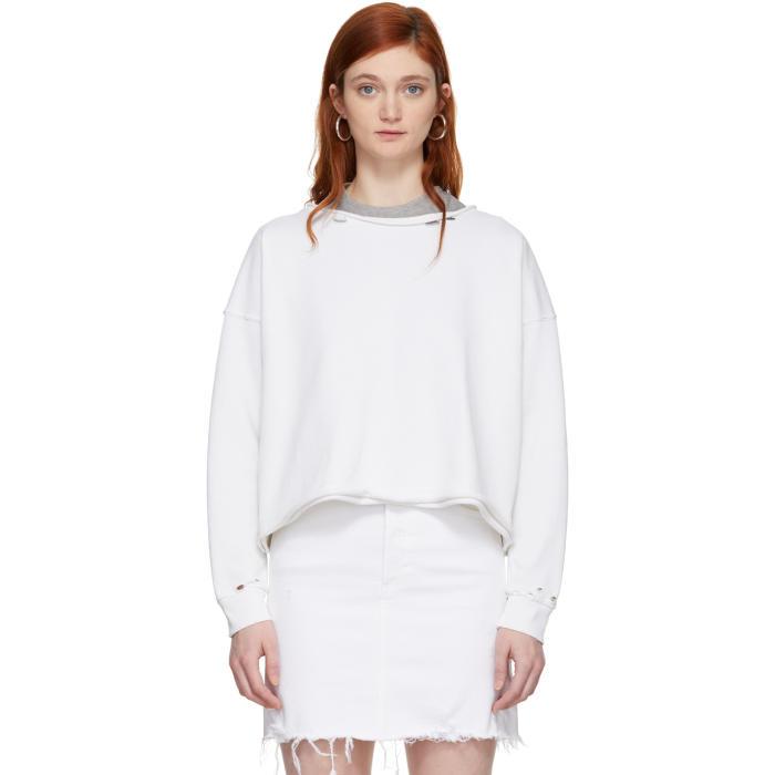 Amo White Boxy Sweatshirt