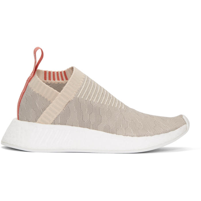 ADIDAS ORIGINALS BEIGE AND GREY NMD CS2 PK SNEAKERS