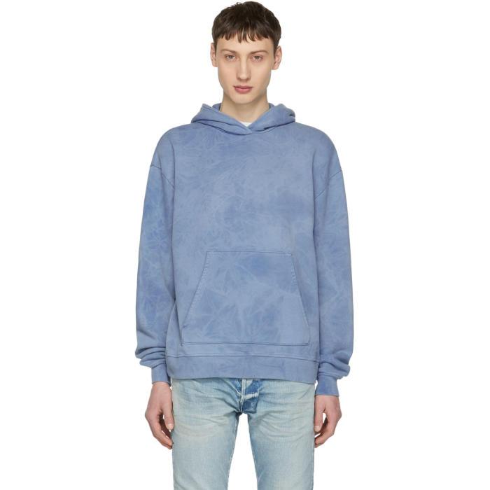 JOHN ELLIOTT Pullover Hoodie in Blue