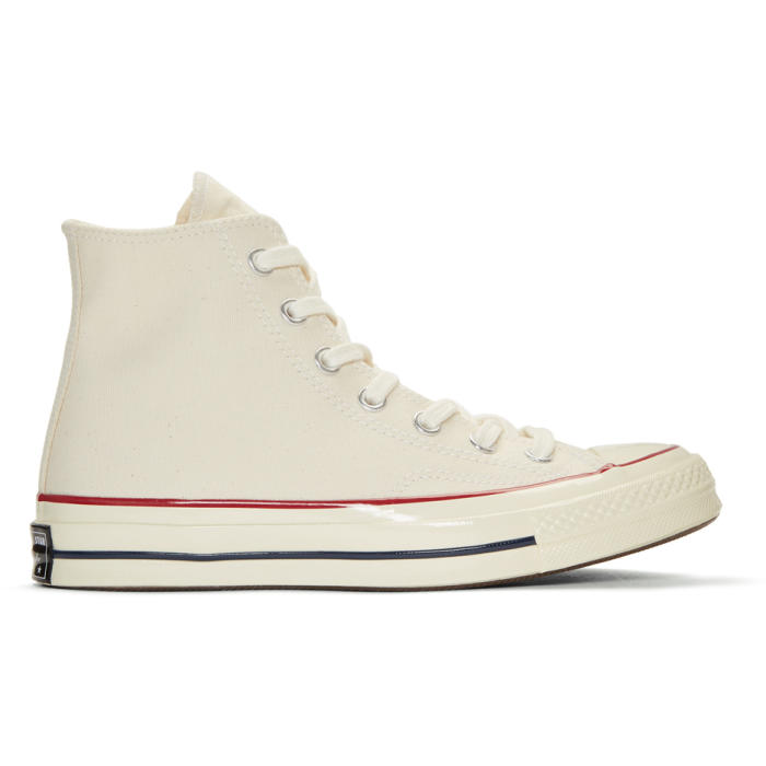 1eb19b81b226d4 Converse Off-White Chuck Taylor All-Star 70 High-Top Sneakers In Natural