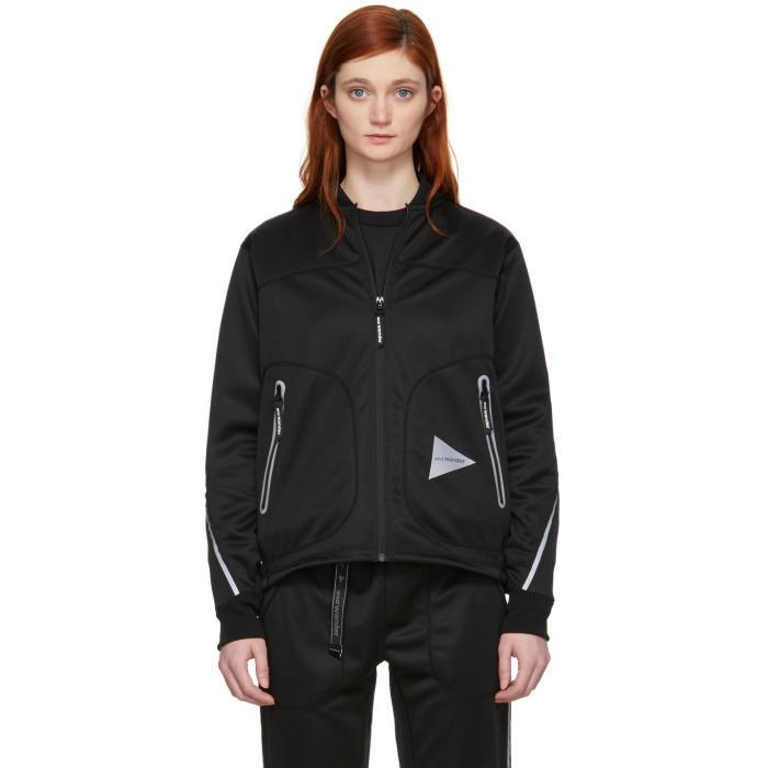 AND WANDER And Wander Black Line Zip Jacket