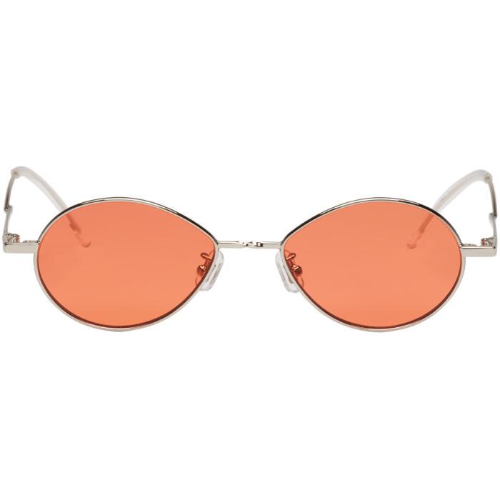 Silver and Orange Cobalt Sunglasses Gentle Monster aAXNeEUp