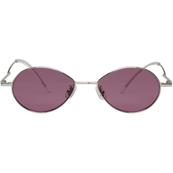 7595cc605d GENTLE MONSTER Silver And Purple Cobalt Sunglasses