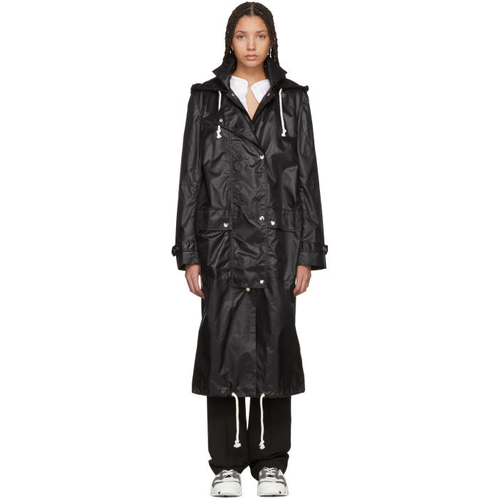 WENDELBORN Wendelborn Black Long Windbreaker Coat